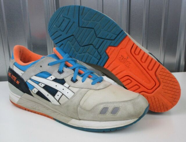 Men's Running Grey Iii Shoes Asics Gel Lyte Orange Nice Size Blue 14 H405n 3AL45Rqcj