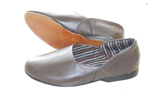 pelle color Clarks uomo marrone Taglie in G 6 di reale vera Pantofole King da 12 XIqUS