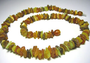 100% Authentic Raw Baltic Amber Necklace .17 inch