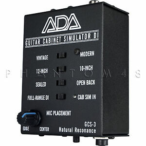 Ada Amplification Gcs 3 Guitar Cabinet Speaker Simulator Di Direct