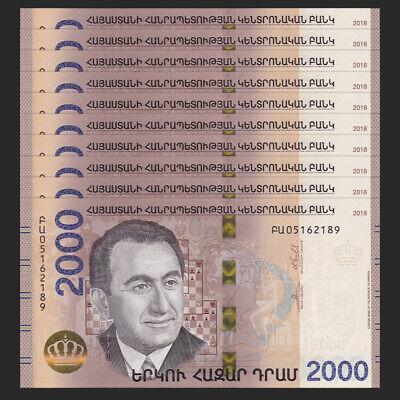 Full bundle Lot 100 PCS Armenia 50 Dram UNC P-41 1998