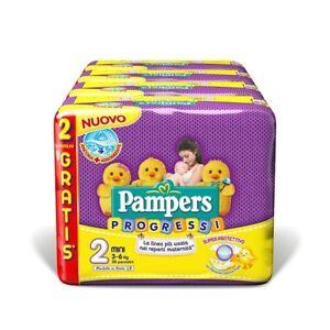 Pampers Progressi Taglia 2 Mini 3-6 kg Pannolini Stock Confezioni...