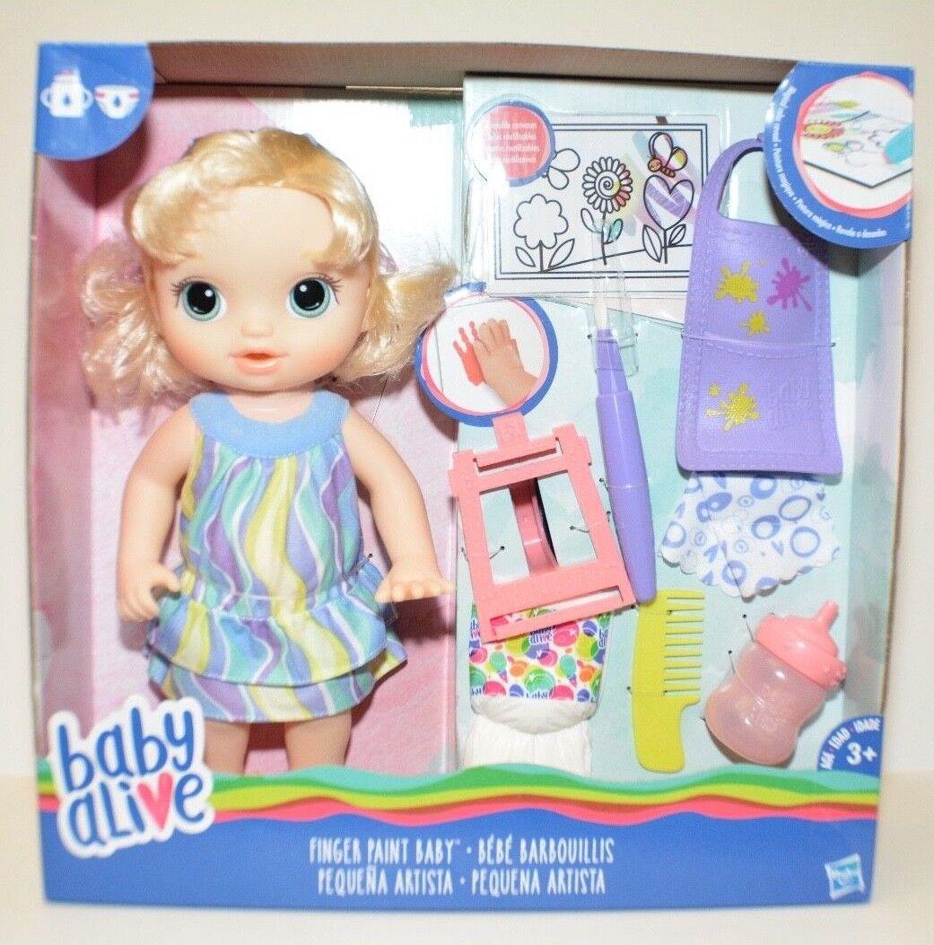 Baby Alive Dedo Pintura bebé Mágico Color revelan Cabello Rubio Muñeca por Hasbro Nuevo