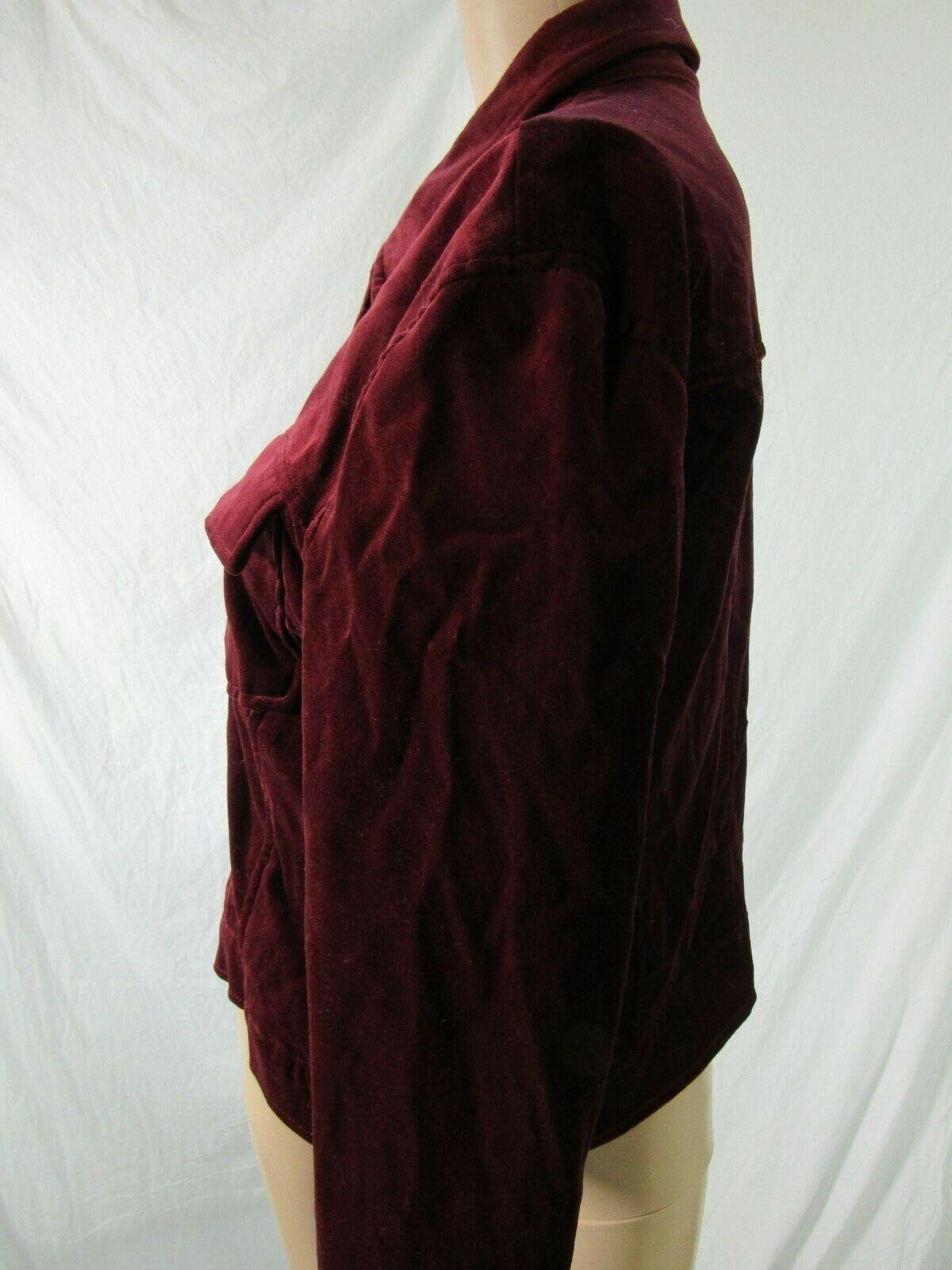 BB Dakota Red Velvet Jacket Blazer Size Large - image 3