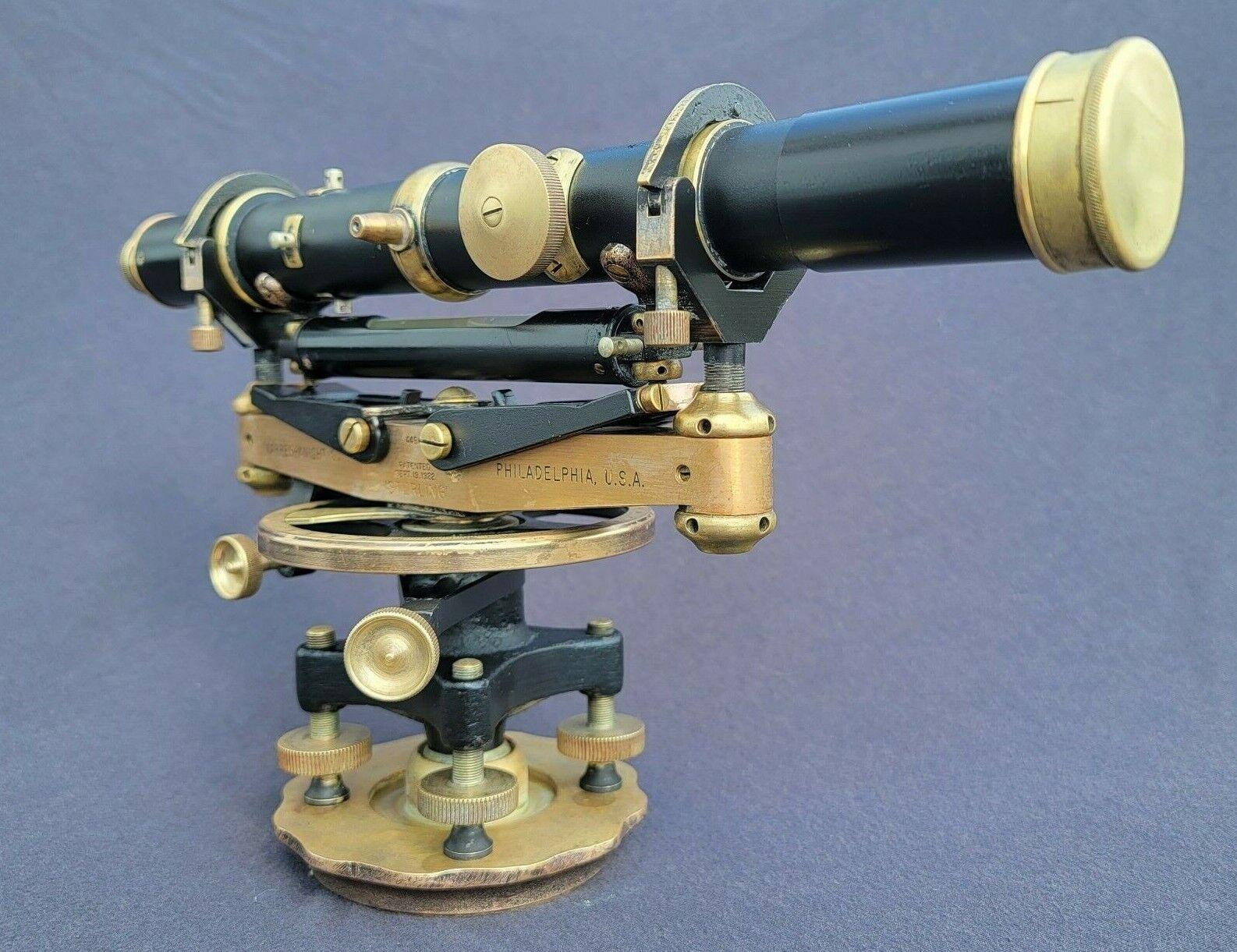 1922 Warren Knight Co Sterling Transit Brass Surveying Scope Tool Wye #4496 NICE