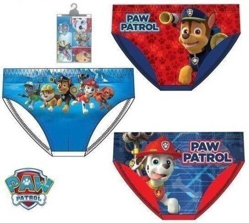 Boys Kids Character Paw Patrol Briefs Underwear Pants Age 2-8 Years