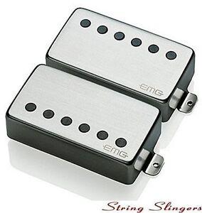 EMG-57-amp-EMG-66-pair-of-Active-Humbuckers-Brushed-Chrome-Solderless