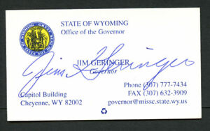 Jim-Geringer-signed-autograph-Governor-of-Wyoming-Business-Card-BC500