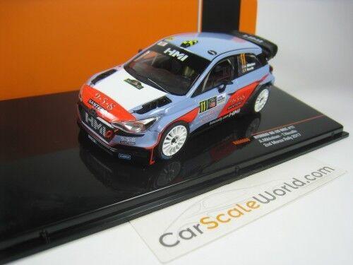 HYUNDAI NG i20 WRC 2ND MONZA RALLY 2017 A. MIKKELSEN T. NEUVILLE 1/43 IXO