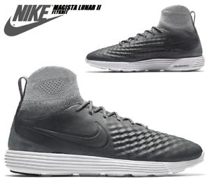 Nike-Lunar-Magista-II-FK-Gr-42-FC-Halle-Fussball-Laufschuhe-Grau-Neu-NP-219