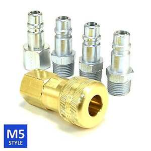 USA-MADE-5-Series-Brass-Couplings-1-2-Body-1-2-NPT-Air-Hose-and-Water-Fittings