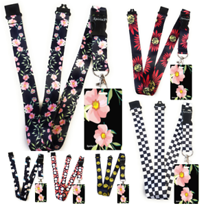 Beautiful-FLOWERS-Standard-size-ID-badge-holder-and-lanyard-neck-strap-gift