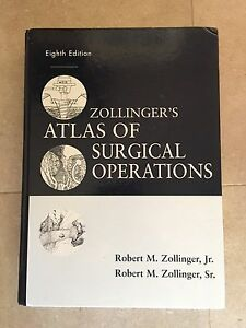 Zollinger S Atlas Of Surgical Operations By Robert M Zollinger Jr