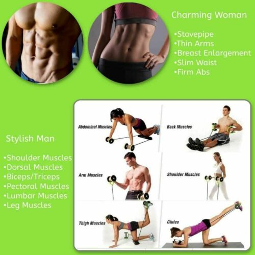 Details about  /Roller Wheel Abs Abdominal Muscles Core Workout Home Training Exercise Equipment