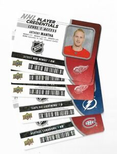 2018-19 Upperdeck MVP hockey NHL PLAYER CREDENTIALS U PICK/CHOOSE