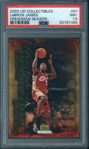2003-04 Upper Deck Freshman Season LeBron James Rookie #67 PSA 7.5