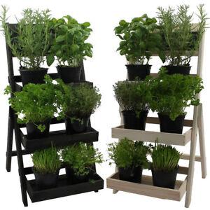 Blumentreppe-Blumenstaender-Pflanzentreppe-Blumenregal-Holz-Regal-Blumenleiter