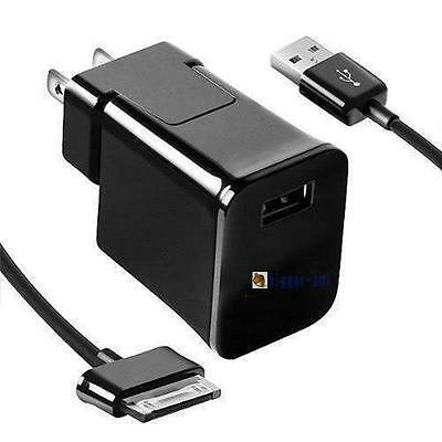 USA Travel Wall Charger USB Cable For 7/8.9 /10.1 Samsung Galaxy Tab 2 Tablet BA