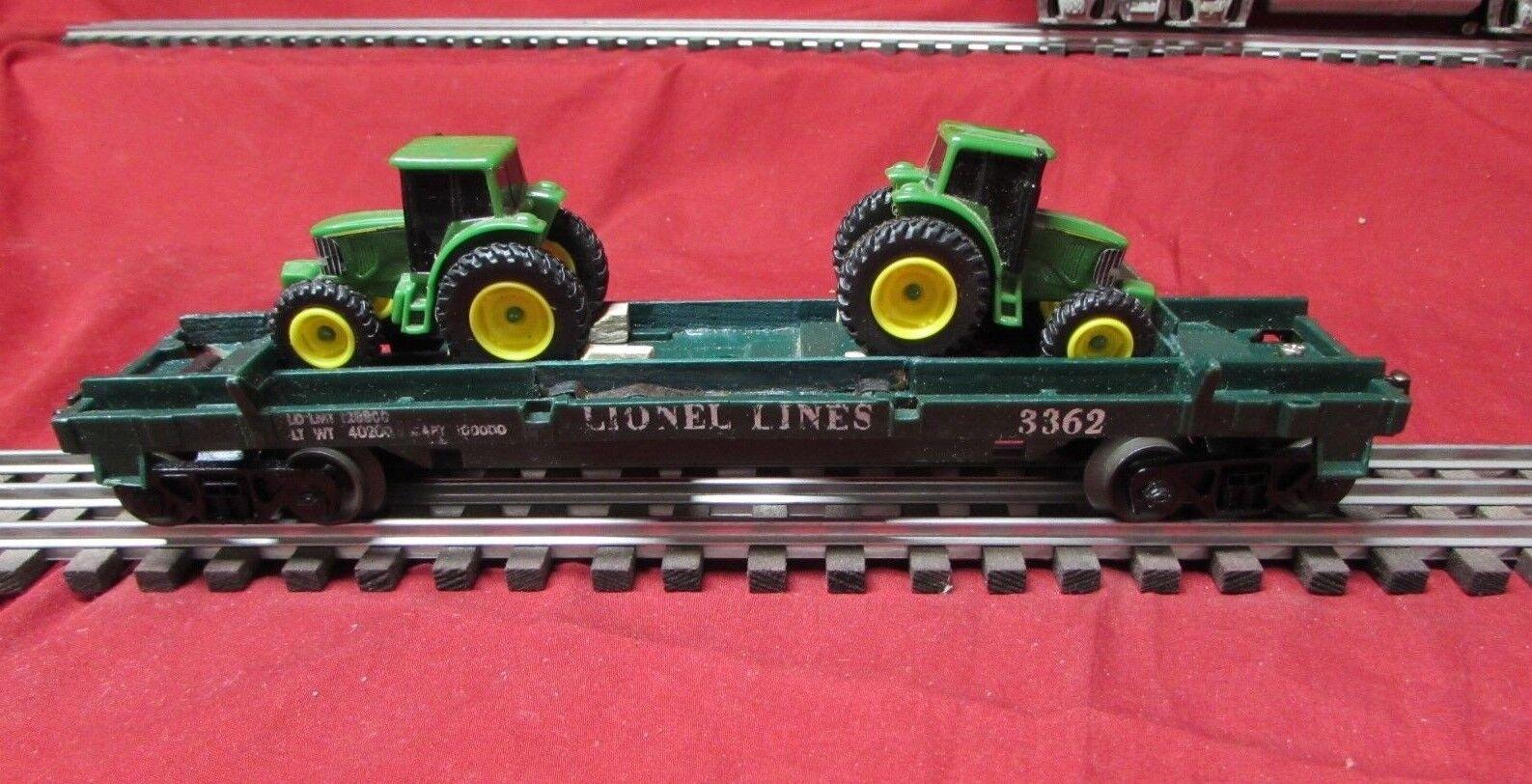 Lionel post guerra de Cochega coche   3362 con 2 tractores o calibre ob