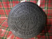 NEW ORLEANS GENUINE Cast Iron Water Meter Box Cover NOLA CRESCENT FRENCH QUARTER