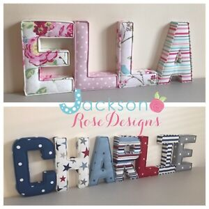 Letters Wall Art Handmade Fabric Name