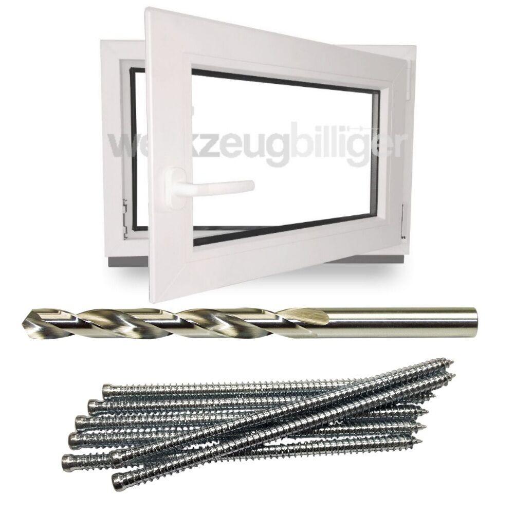 Kunststofffenster Kellerfenster Fenster Wohnfenster 50x50 cm 3-Fach Verglasung