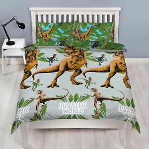 Jurassic-World-Jungle-Set-Housse-de-Couette-Double-Dinosaures-Enfants