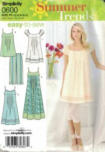 Simplicity-Misses-amp-Petite-Dress-3-Lengths-Tunic-amp-Leggings-0600-Size-12-20