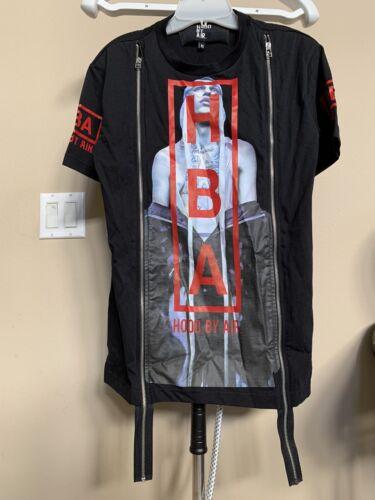 Hood By Air Zip Tee Men's Tshirt XS HBA