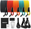 thumbnail 1 - PROIRON Resistance Bands Set 14 Pieces Anti-Snap Resistance Band Exercise with H