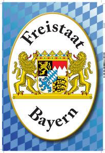 Freistaat-Bayern-Motiv-2-Blechschild-Schild-gewoelbt-Metal-Tin-Sign-20-x-30-cm