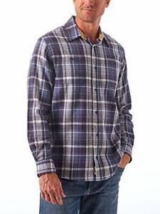 Wrangler Mens Authentics Long-Sleeve Flannel Shirt