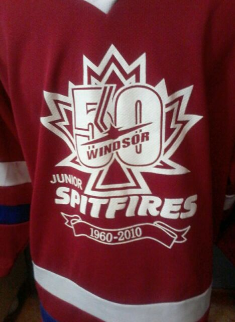 Game worn Windsor Jr Spitfires 50th Anniversary jersey.  OHMA