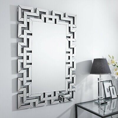 Venetian Large Silver Wall Rectangular, Venetian Large Round Silver Wall Mirror