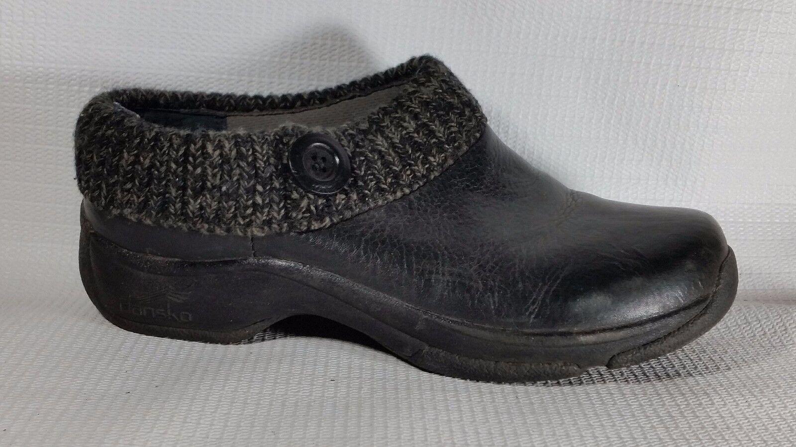 Dansko 5408020200 Negro Cuero Comodidad Comodidad Comodidad Zueco Zapatos para mujer Kenzie 8.5 9 M EU 39  ventas en linea