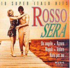 ROSSO SERA - 18 SUPER Italo Hits Pippo azzurro, Toto Cutugno, Angelo FAB [CD ALBUM]