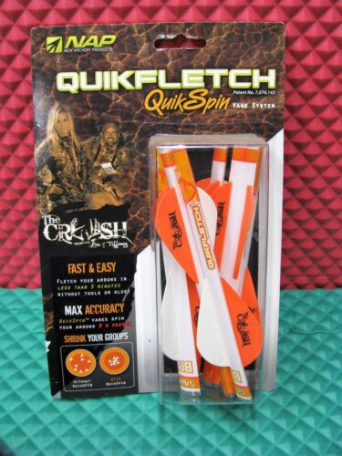 """NAP Quikfletch QuikSpin Vane System 2/"""" Compound Bow Model 6 Pack CHOOSE COLOR"""