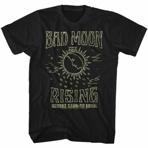 Creedence Clearwater Revival Bad Moon Rising Adult T Shirt Rock Music Funny Gift