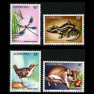 Luxembourg-1987-Wildlife-Conservation-Fauna-Animals-Sc-763-6-MNH