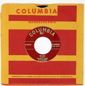 FRANKIE LAINE Hey Joe!/Sittin' In The Sun 7IN 1953 POP VOCAL NM-