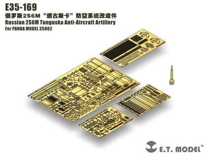 ET Model 1 35  E35169 Russian 2S6M Tunguska Detail Up Set for Panda Hobby 35002