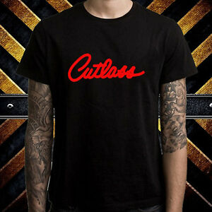 a94cda44 Cutlass Oldsmobile Emblem Racing Logo Men's Black T-Shirt Size S to ...