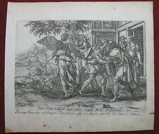 Kupferstich wohl H. Wierix: Tobias & Eltern 1582-5/Engraving Parents, De Vos
