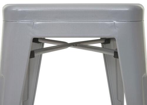 Barstuhl Tresenhocker 4x Barhocker HWC-A73 Metall Industriedesign stapelbar