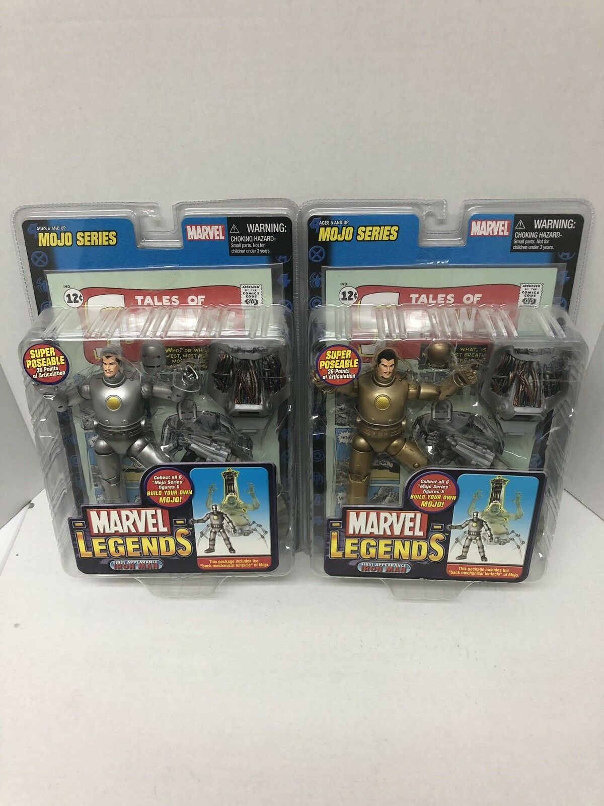 Marvel Iron 2 Figure Lot 1st Appearance New Never Opened Legends Man