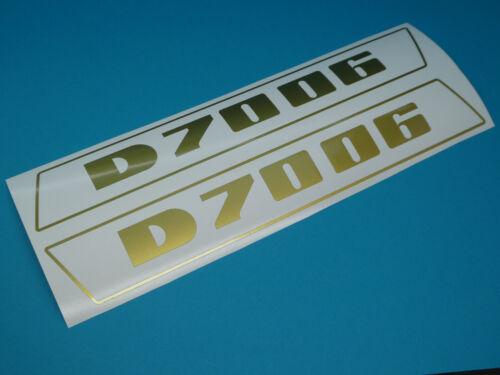 Deutz 7006 pegatinas emblema sticker haubenaufkleber en letras de oro