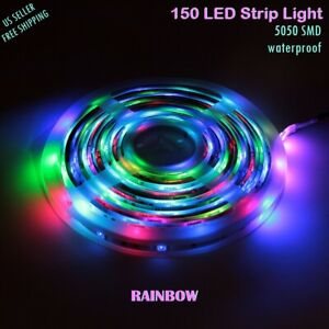 new styles 444f9 95811 Details about 150 LED Strip Lights Rainbow 5050 SMD Flexible Tape  Waterproof Rope Light 5M USA