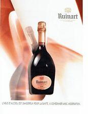 PUBLICITE ADVERTISING 126  2015  le champagne rosé  Ruinart