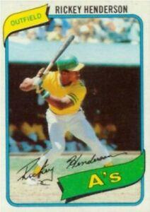 1980 Topps Rickey Henderson Rookie Card Refrigerator Magnet Oakland Athletics