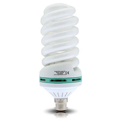 Energy Saving 45w Spiral Light Bulb Cool White 6500K B22 or E27 45W = 200W